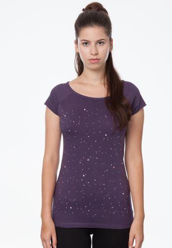 ThokkThokk Damen T-Shirt Nightsky Violett Bio Fair
