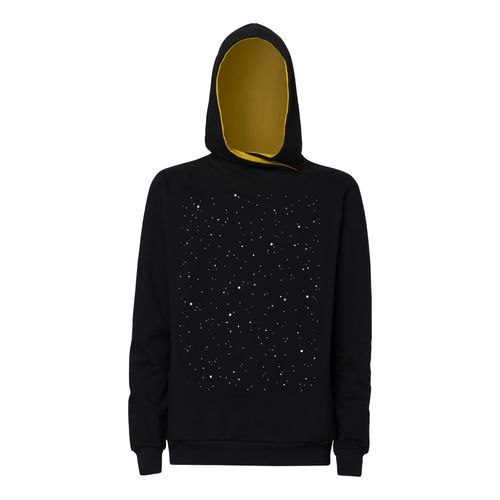 ThokkThokk Nightsky TT1025 Cross Hoodie Man black made of 100% organic cotton // GOTS and Fairtrade certified