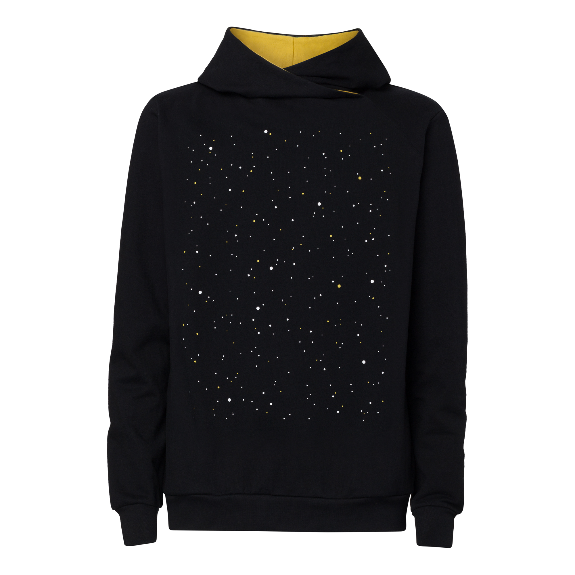 Nightsky TT1025 Cross Hoodie Man black GOTS & Fairtrade