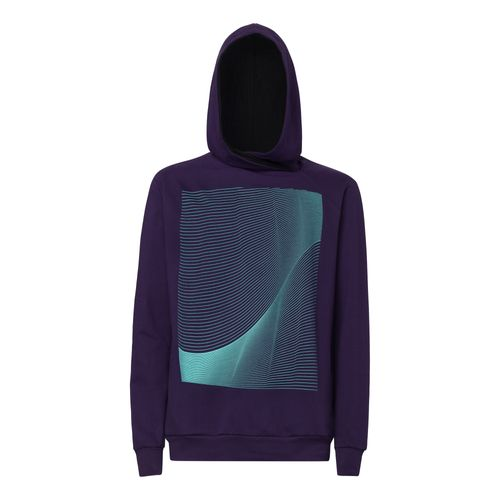ThokkThokk Air TT1025 Cross Hoodie Man eggplant made of 100% organic cotton // GOTS and Fairtrade certified