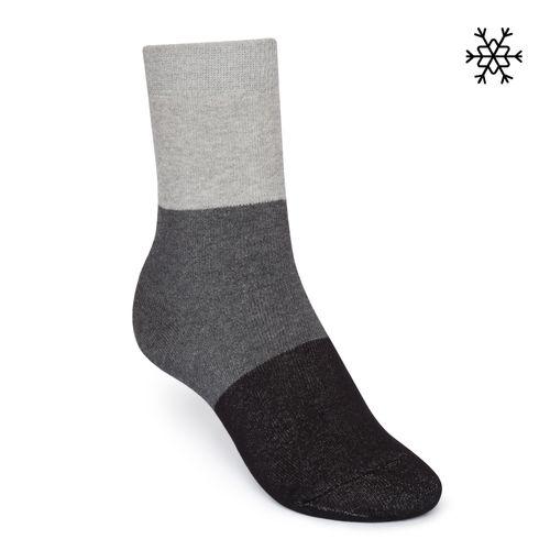 ThokkThokk Plüsch Socken Triple High-Top grau/anthrazit/schwarz mit Biobaumwolle hergestellt // Bio und Fair