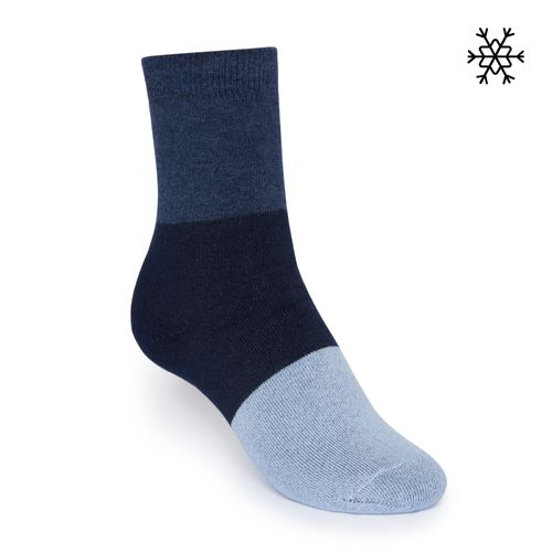 ThokkThokk Plush Socks Triple High-Top blue/navy/light blue made with organic cotton // Organic and Fair