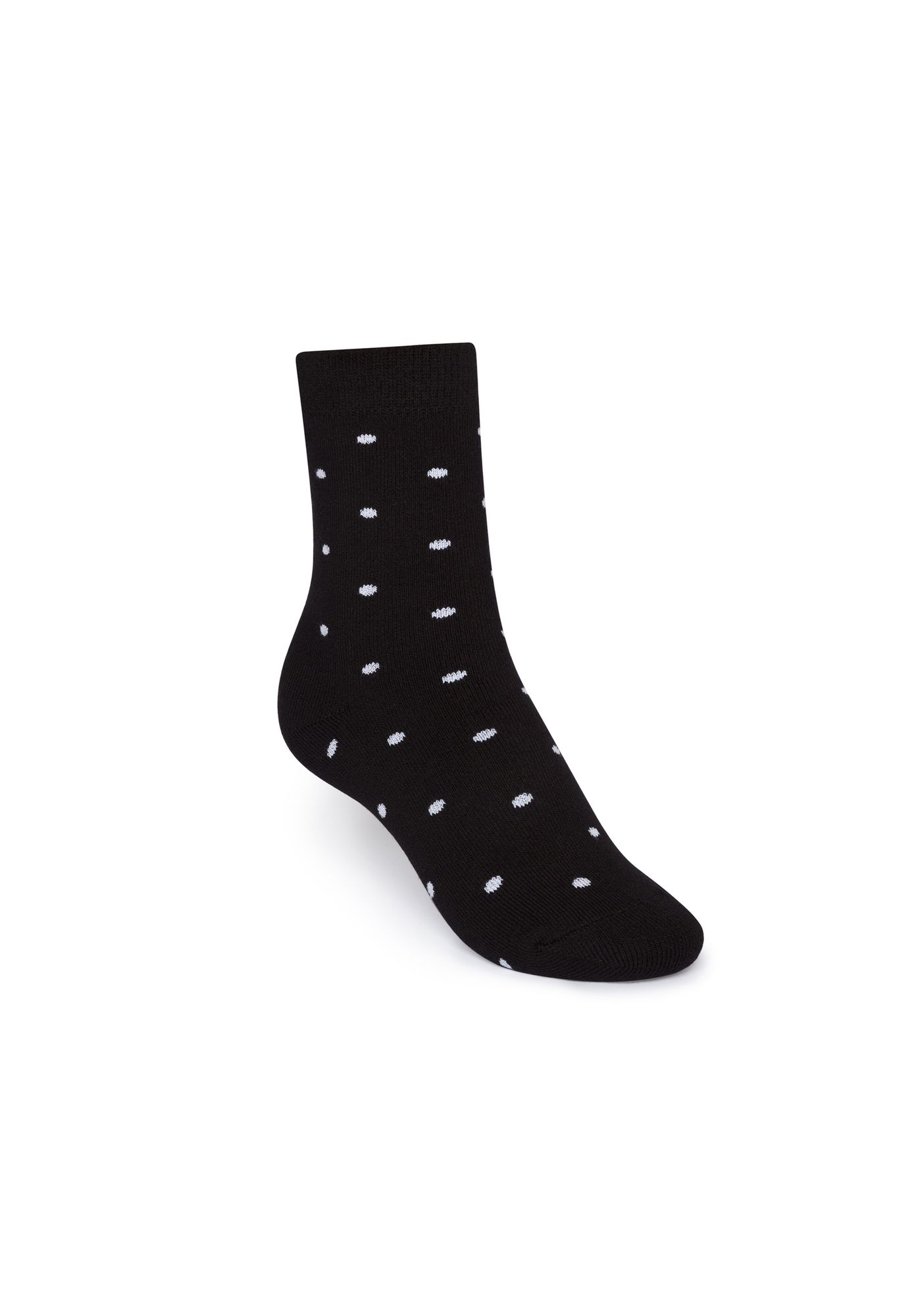 Terry Mid Socks Dotties Black