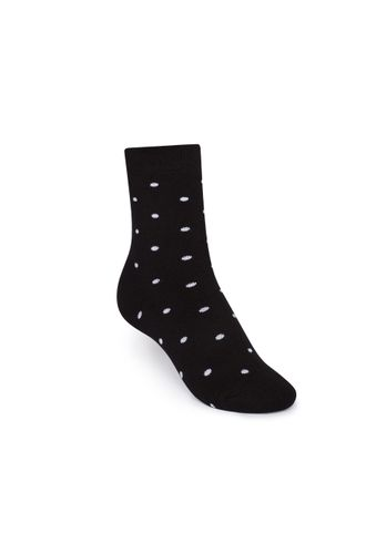ThokkThokk Plush Socks Dotties High-Top black/white made with organic cotton // Organic and Fair