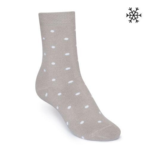 ThokkThokk Plüsch Socken Dotties High-Top  grau/weiß mit Biobaumwolle hergstellt // Bio und Fair