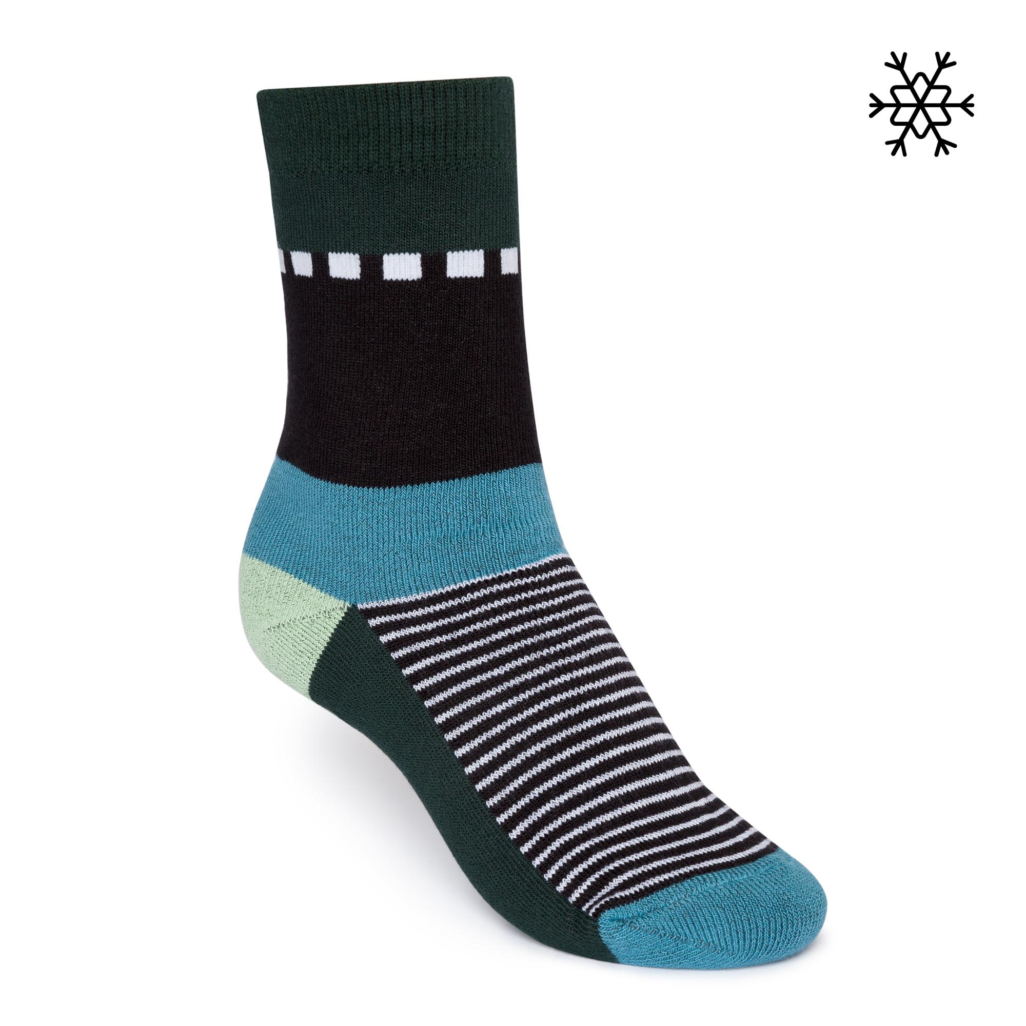Nizza High-Top Plüsch Socken teal Bio & Fair