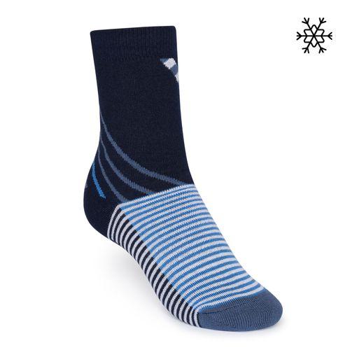 ThokkThokk Plüsch Socken Nizza High-Top blau mit Biobaumwolle hergestellt // Bio und Fair