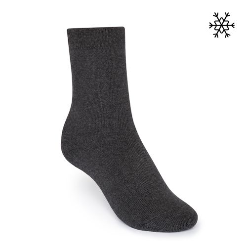 ThokkThokk Plush Socks Solid High-Top dark grey made with organic cotton // Organic and Fair