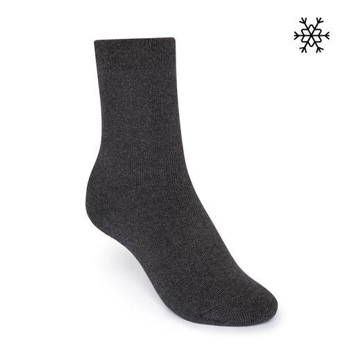 ThokkThokk Plüsch Socken Solid High-Top dunkelgrau melange mit Biobaumwolle hergestellt // Bio und Fair