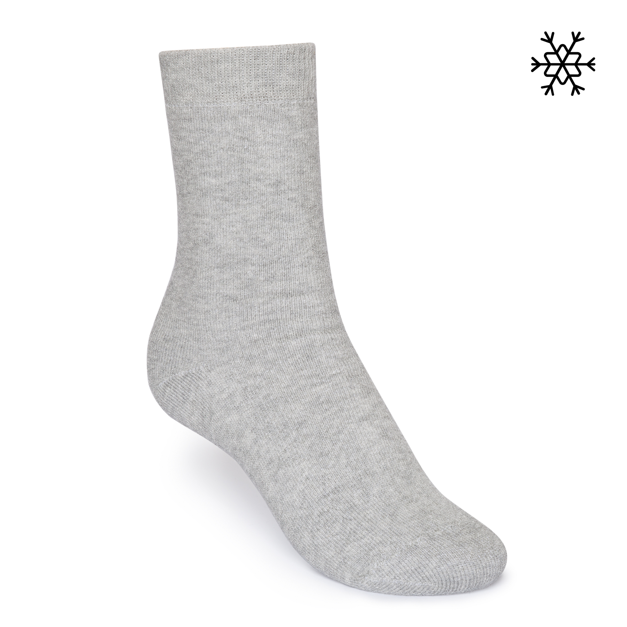 Solid High-Top Plush Socks grey Organic & Fair