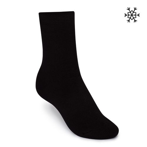 ThokkThokk Plush Socks Solid High-Top black made with organic cotton // Organic and Fair