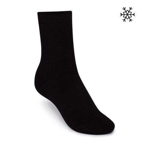 ThokkThokk Socken Plüsch Schwarz Bio Fair