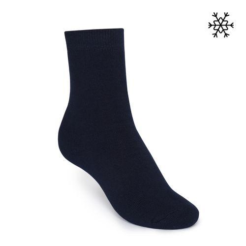 ThokkThokk Plüsch Socken Solid High-Top navy mit Biobaumwolle hergestellt // Bio und Fair