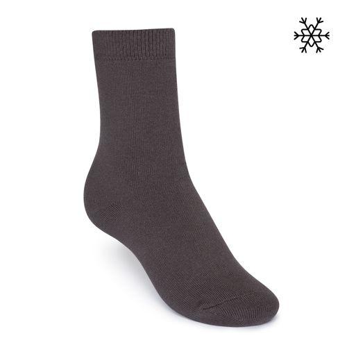 ThokkThokk Plüsch Socken Solid High-Top dunkelgrau mit Biobaumwolle hergestellt // Bio und Fair
