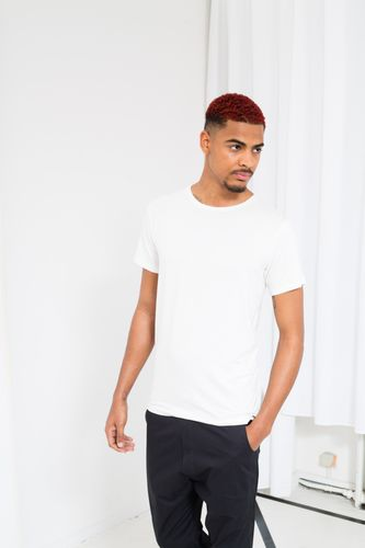 ThokkThokk TT65 T-Shirt Man Porcelain made of sustainable tencel jersey // Sustainable & Fair