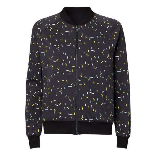 ThokkThokk TT47 Reversible Jacket Woman sprinkles graphite/black made of organic cotton // Organic and Fair
