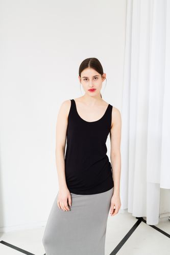 ThokkThokk TT50 Tank Top Woman Black made of sustainable tencel jersey // Sustainable & Fair
