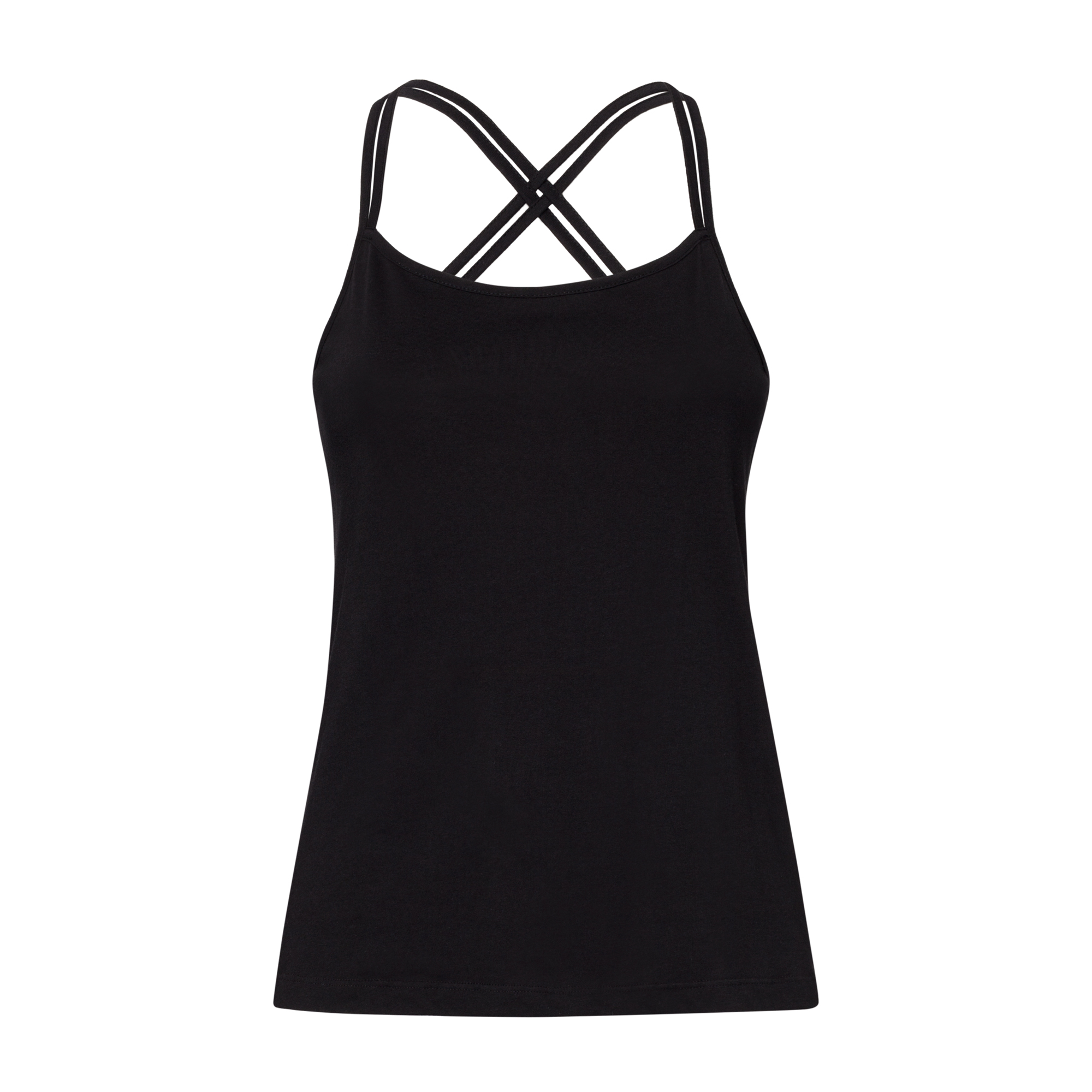 TT33 Spaghetti Top Woman Black Organic & Fair