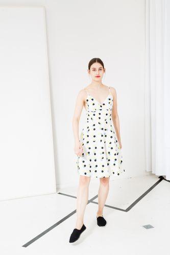 ThokkThokk Triplepolka TT57 summer dress white made of organic cotton // Organic and Fair