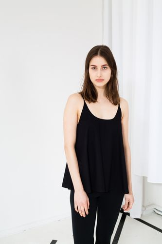 ThokkThokk TT63 Tank Top Woman Black made of organic cotton // Organic and Fair