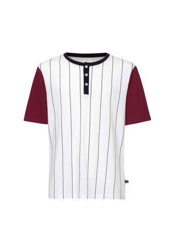 ThokkThokk Herren T-Shirt Baseball Weiß Bio Fair