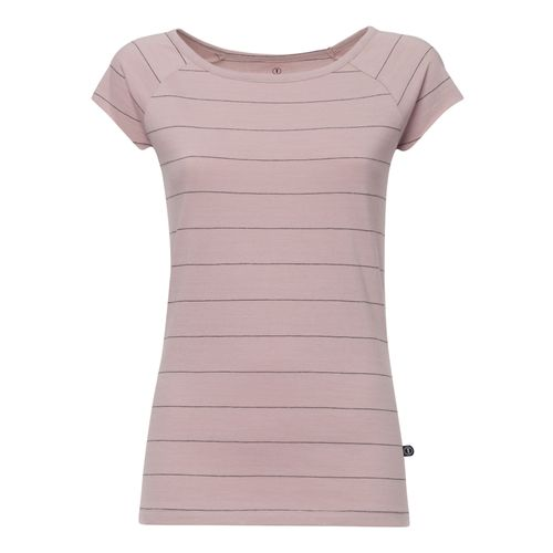 ThokkThokk TT01 Cap Sleeve T-Shirt Woman Rose/Striped made of organic cotton // Organic and Fairtrade certified