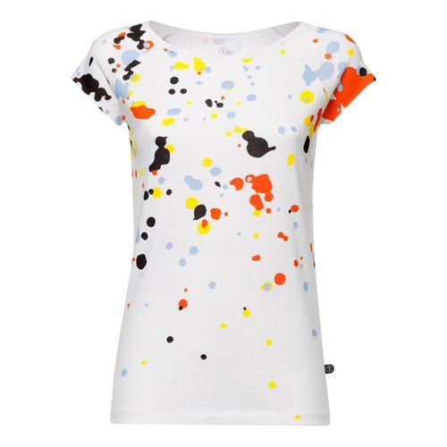 ThokkThokk Blur Cap Sleeve T-Shirt Damen weiß aus Biobaumwolle hergestellt // Bio und Fairtrade zertifiziert