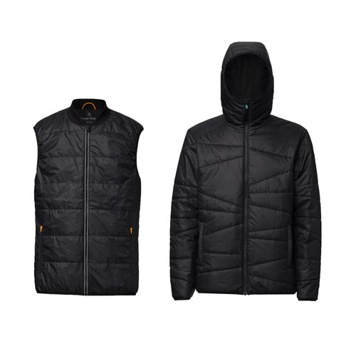 ThokkThokk 2er Pack TT2005 Light Kapok Vest Man Black & TT2006 Kapok Anorak Man Black PETA-Approved Vegan