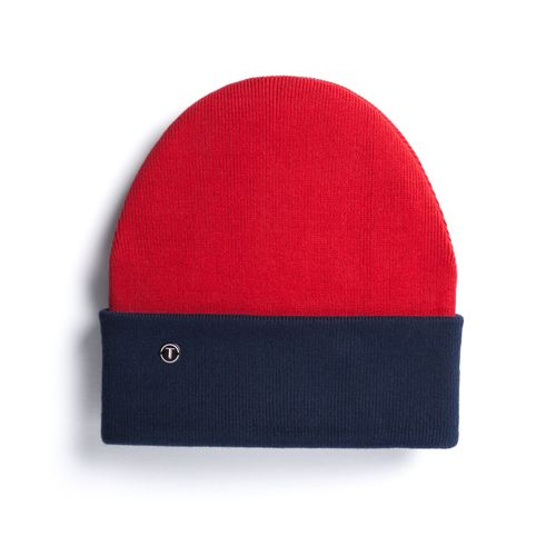 ThokkThokk TT101 Folded Beanie Red/Dark Blue  made of oranic cotton // Organic and Fair