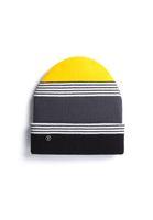 TT101 Folded Beanie Striped/Grey/Yellow