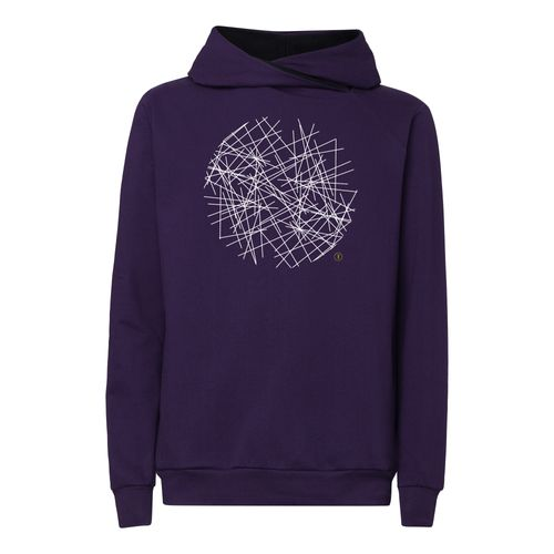 ThokkThokk Neon TT1025 Cross Hoodie Man white/violett made of organic cotton // Organic and Fairtrade certified