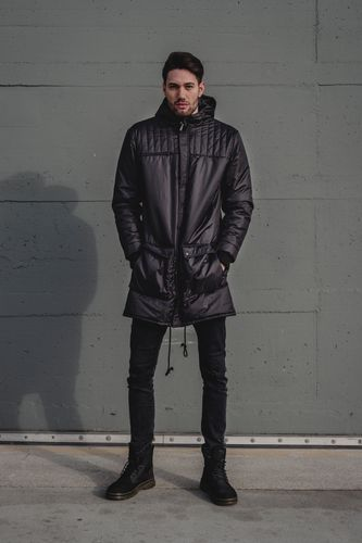 ThokkThokk TT2007 Kapok Parka Man Black  // Sustainable, Fair, Vegan and Recycled