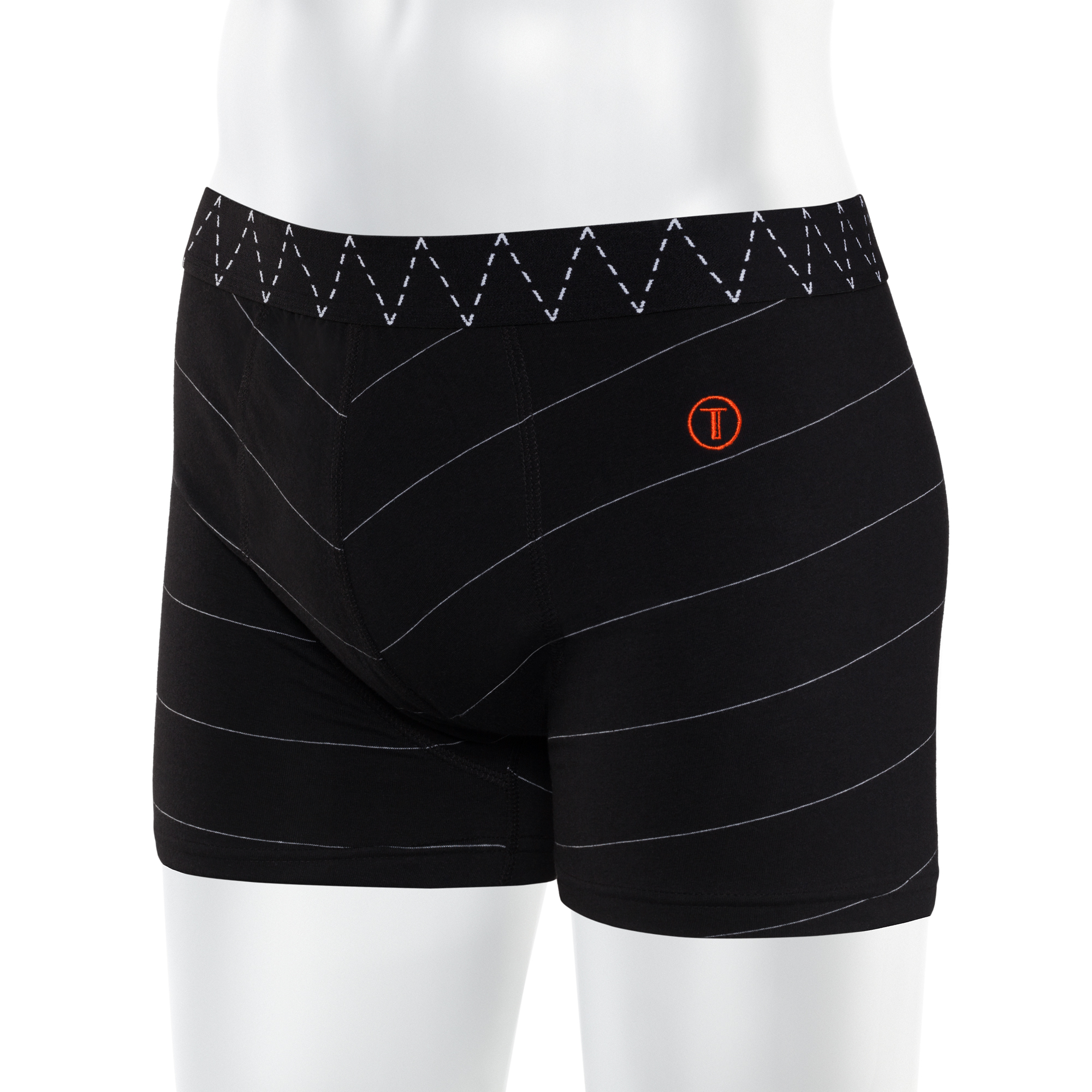 TT15 Boxershorts Black/Microstripes GOTS & Fairtrade