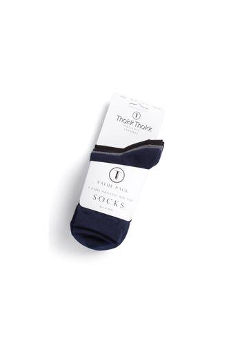 ThokkThokk Socken Mittelhoch Schwarz Grau Blau 5er Pack Bio