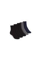 5 Pack Mid Socks Black Graphite Midnight