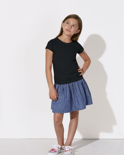 ThokkThokk Girls T-Shirt Black made of organic cotton // Organic and Fair