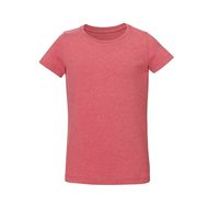 Girls T-Shirt Heather Cranberry Bio & Fair