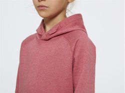 Bild 4 - Kids Hoodie Heather Cranberry Bio & Fair