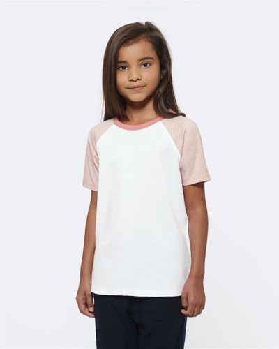 ThokkThokk Kids Raglan T-Shirt White/Pink made of organic cotton // Organic and Fair