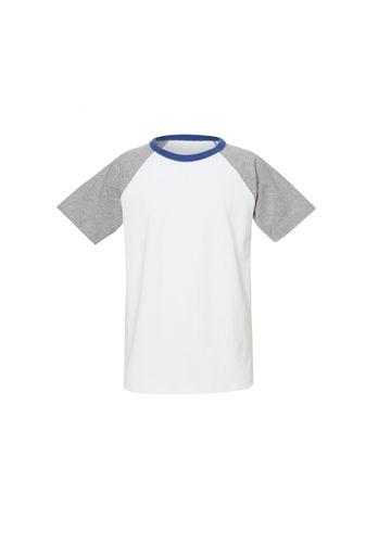 ThokkThokk Kinder T-Shirt Weiß Grau Blau Bio Fair