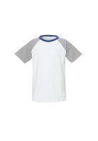 Bild 2 - Raglan T-Shirt White Grey Blue