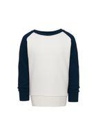 Bild 2 - Raglan Sweatshirt Vintage White Navy