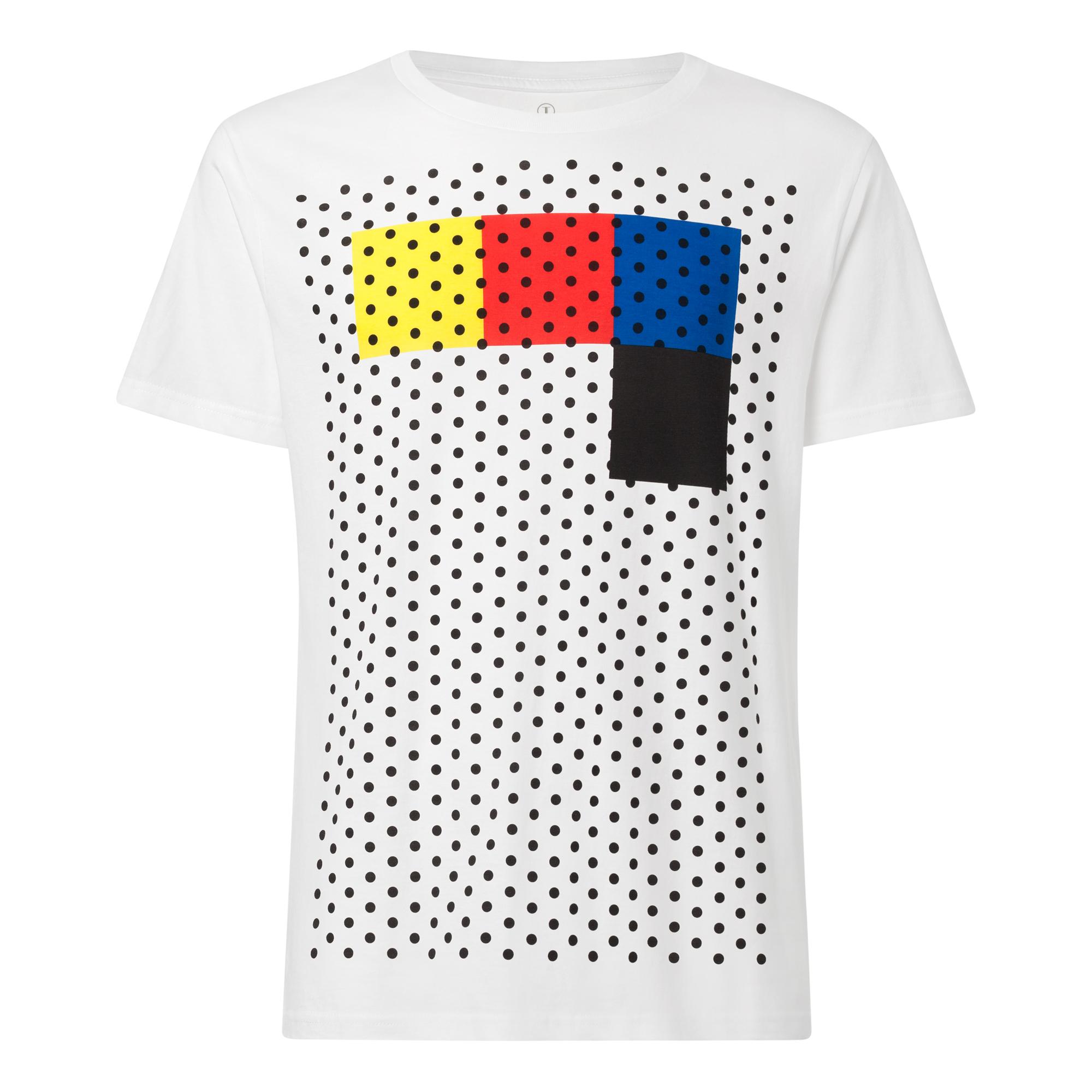 Rasterblock T-Shirt white GOTS & Fairtrade