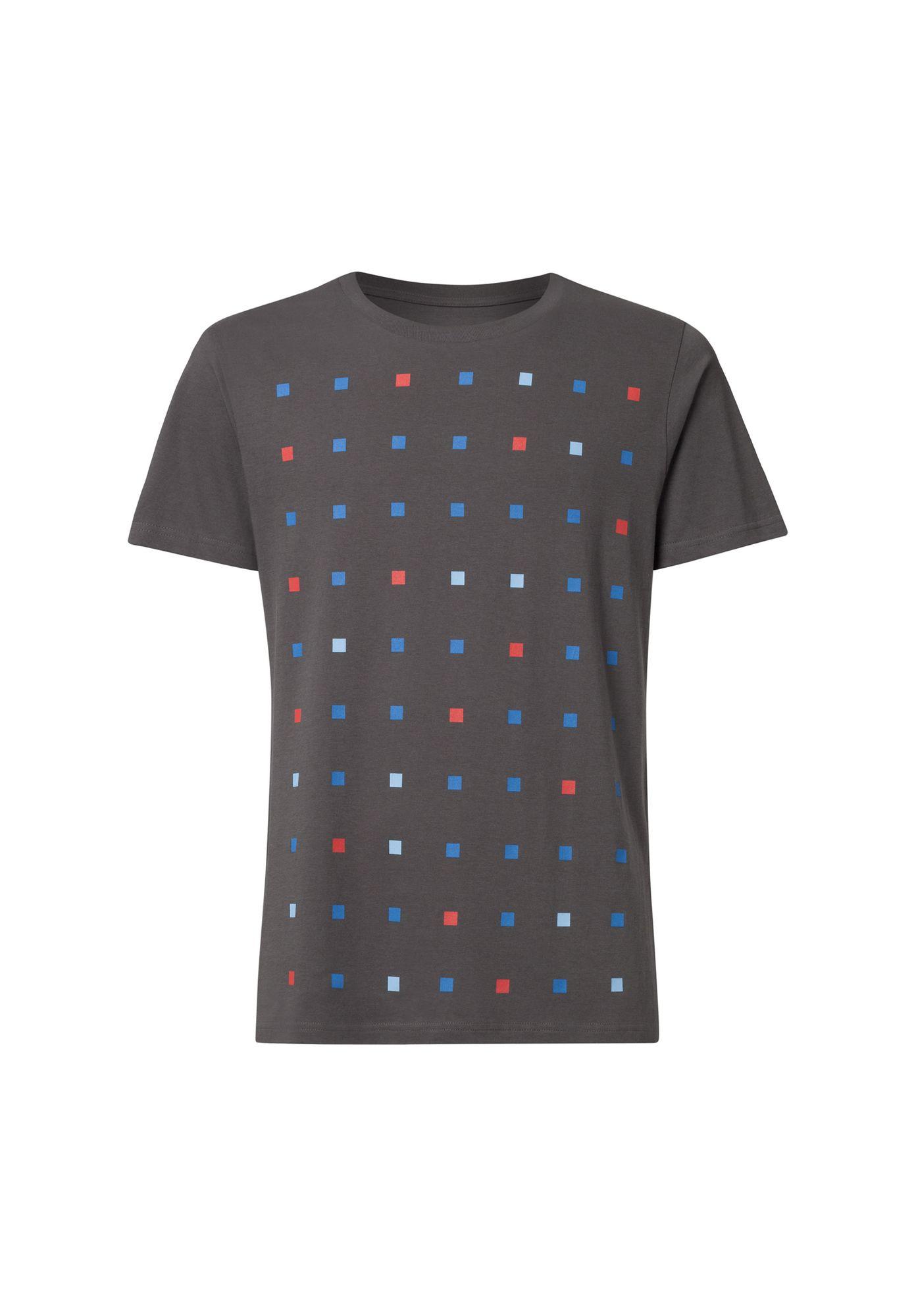 Squared T-Shirt castlerock GOTS & Fairtrade