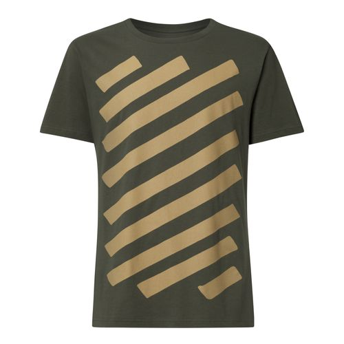 ThokkThokk Graffstripes T-Shirt Men olive-green made of organic cotton // Organic and Fair