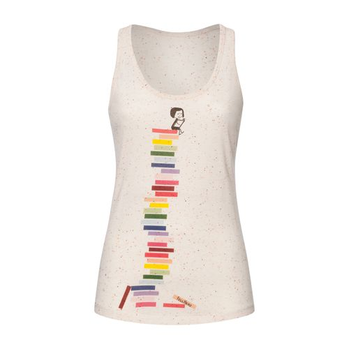 FellHerz Books Racerback Tank Top Woman spotted mandarine made of organic cotton // Organic and Fair