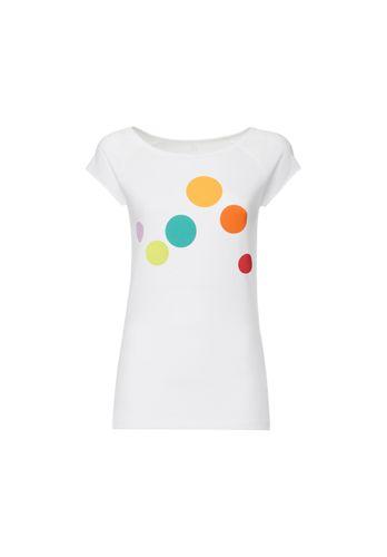 ThokkThokk Circles Cap Sleeve T-Shirt Woman white made of organic cotton // Organic and Fair