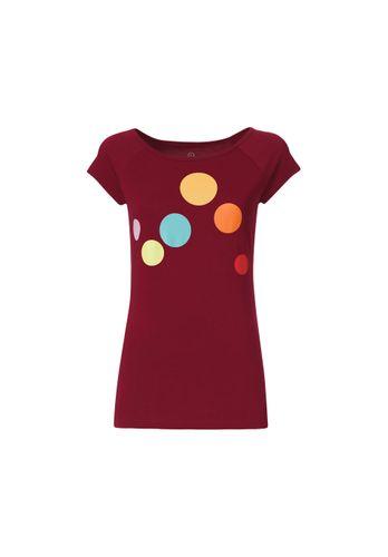 ThokkThokk Circles Cap Sleeve T-Shirt Woman red made of organic cotton // Organic and Fair