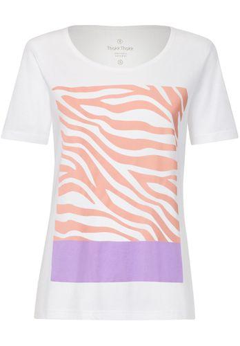 ThokkThokk Damen T-Shirt Zebra18 Weiß Bio Fair