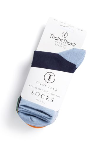 ThokkThokk 3er Pack Socks with organic cotton // Geometric/Vertical/Wood Worker // Organic and Fairtrade certified // medium-high